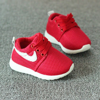 Wholesale 2017 Spring Autumn Children Shoes Blue Red Black Breathable Comfortable Kids Sneakers Boys Girls Toddler Shoes Baby Size21