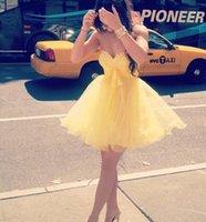 al por mayor vestido de arco amarillo-Amarillo corto Mimi homecoming vestidos de novia rebordear cristales arco vestido de fiesta vestido de cóctel vestidos 2016 Vestidos De Festa