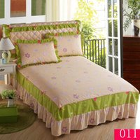 Wholesale Lace Cotton Twin Sheets - New printing Princess Lace Bed Skirt Mattress Cover Twin Full  Queen  King bedskirts 100% Cotton Bedskirt Bedspread Bed Sheet Skirts