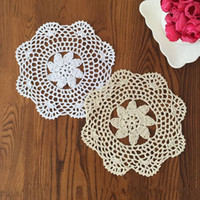 Wholesale Set of CM Round doilies hand crochet doily for home decor nice gift for your Mom handmade cotton coaster lace doilies