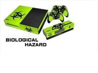 Etiquetas engomadas protectoras de la piel de la etiqueta del vinilo 1Set para la consola de Xbox + etiquetas engomadas 2PCS para los juegos de los reguladores de Xbox uno + piel XB24 de Kinect
