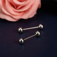 Cheap Wholesale 316L Stainless Steel Ear Stud Navel Nipple Nose Lip Tongue Rings Bar Barbell Body Piercing Jewelry