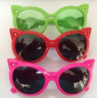 baby eye glasses - Cute children cartoon sunglasses baby girl boy summer cat eye sun glasses kids Sunblock colorful drop shipping