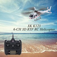 Cheap 2016 Original XK Helicopter AS350 K123 6CH 3D 6G System Brushless Motor RTF Remote Control RC Helicoptero BS