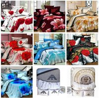 Wholesale fashion Designers high quality Pillowcase Bed sheet Quilt Cover Bedclothes Cotton Bedding Set Bed Linen set