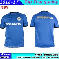 Wholesale 2016 Top Quality Belgium Club NEW bruges Jersey uniforms custom fans Brugge Football Shirts