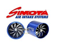 Wholesale SIMOTA singel Dual Propeller Air Intake Fan Fuel Saver Turbo Fan R Min universal fitment stock and ready to ship