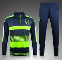 Wholesale 2016 Arsenal survetement football Soccer tracksuit Chandal sweater Maillot de footall jogging pants Soccer training suit