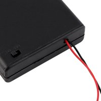 aa switch box - Battery Cover Box Plastic Holder with ON OFF Switch for x AA Batteries