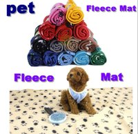 printed fleece blanket - Cute Pet Dog Cat Blanket Paw Prints Soft Warm Fleece Mat Bed Cover Colors Choose Freeshipping