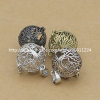 lot of perfume - Mixed Copper Tree of Life Charms Locket Pendant for Essential Oil Diffuser Necklace Aromatherapy Perfume Making