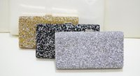 Wholesale NEW Rhinestones Women Clutch Bags Diamonds Evening Bags Crystal Wedding Bridal Handbags Purse Bags Black Gold Silver