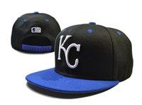 Sombreros de los deportes de la ciudad España-2016 de la moda de los Reales de Kansas City snapback de las gorras de béisbol ajustable detrás los sombreros de los Snapbacks Negro Alta Calidad jugadores de los deportes envío libre