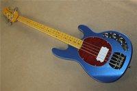 Envío de la venta caliente de la alta calidad del metal azul Ernie Ball Musicman 9V activa recogida <b>Music Man Stingray</b> 4 cuerdas de la guitarra baja