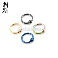 Wholesale Min order Body Piercing G Titanium Anodized Captive Ring Mixed Sizes and Colors