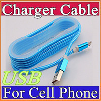 Wholesale Top quality M nylon USB Charging Cable For Smart Phones Samsung HTC LG Micro USB Wire With Metal Head Plug C SJ