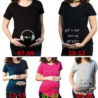 Wholesale New Arrivals Pregnant T shirt Maternity Shirt Short Sleeved Fashion Design Summer Soft Cotton KD2