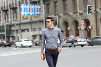Wholesale New Arrivals High Quality Fashion Plaid Turn Down Collar Men Shirts Casual Male Cotton Shirt Single Breasted Long Sleeve Men Clothing MA1355