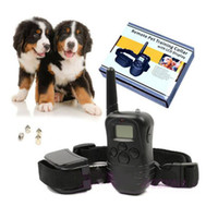 Wholesale AAA quality rechargeable pet dog training Obedience remote pet training collar with LCD disply dog barking deterrents supplies