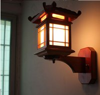 antique woodwork - Modern Chinese style corridor wall lamp Antique solid wood carve patterns or designs on woodwork imitation sheepskin wall lamp