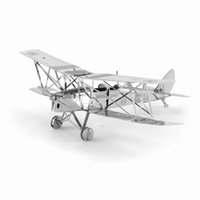best moths - 3D Puzzle Metal DIY DH82 Tiger Moth Military Airplane Aircraft Model Leisure Jigsaws Adult Children s Favorite Best Gift Toys