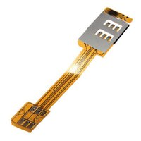 Wholesale Portable Dual Sim Cards Double Adapter Single card Standby for iPhone c s