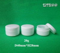 Wholesale 100pcs g PP Plastic White Cream jar and Small Cosmetic Powder container for Beauty package
