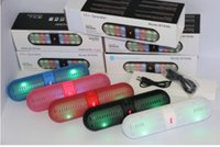 Wholesale Pulse Pills Led Flash Lighting Portable Wireless Bluetooth Speaker Bulit in Mic Handsfree speakers Support FM USB