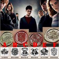 Wholesale 6 Designs Vintage Creative Wax Seal Stamp Harry Potter Hogwarts Single Stamp Set Personal DIY Stamp School Supplies CCA5123 set