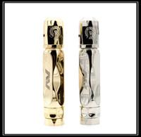 Wholesale AV TWISTGYRE Mechanical Mod Matching RDA Kit Brass Ss Avid Lyfe MOD TWIST GYRE fit battery E Cig Kits Clone Thread DHL Free