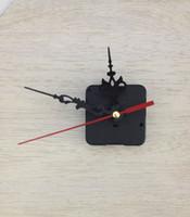 Kit de reloj de cuarzo movimiento de Wall Ascendió Mecanismo de Reparación DIY herramienta de mano del trabajo mecanismo del huso rojas manos negro