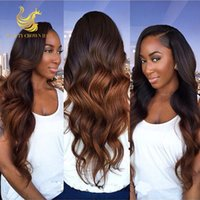 Wholesale Brazilian Human Hair Ombre Full Lace Wig Glueless Lace Front Ombre Wig Human Hair Ombre Full Lace Human Hair Wig For Black Women