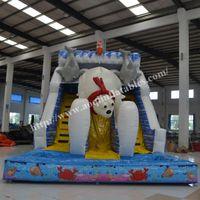 big inflatable water slides - outdoor or indoor inflatable dry slide polar bear slide big inflatable water slide made in guanghzhou factory