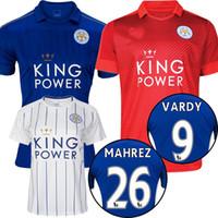 Wholesale Top thai leicester city soccer jersey VARDY football shirt MAHREZ football shirt Camiseta de futbol ULLOA maillot de foot