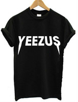 Wholesale 2016 Spring and Summer Yeezus Letters T shirt Women Black White T Shirts Loose Round Neck Short Sleeved Women Tee