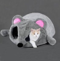 bags mouse mats - Lovely Soft Mouse Shape Pet Dog Cat Sleeping Bag House Pet Blanket Mat soft warm and comfortable