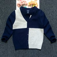Wholesale for baby sweaters kids cardigans Boutique boy clothing V neck knit cardigan sweater for children winter sweater