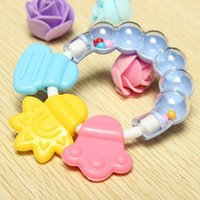 Wholesale 1Pcs Lovely Baby Bell Toy Product Cute Teeth Training Molar Safety Teether For Kids Chewing Practicing