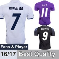 Wholesale New Cristiano Ronaldo Soccer Jerseys home white away Purple Third Black Football Jerseys Real