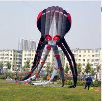 Wholesale 3D m Capricorn black octopus kite Online Stunt Sport Parafoil outdoor toys