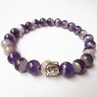 amethyst stone sale - 2016 Hot Sale Jewelry mm Amethyst Stone Beads Buddha Bracelets for Men s and Women s Gift ZFRL001