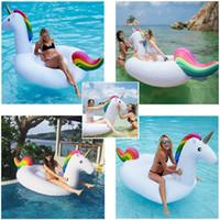Wholesale Giant PVC Inflatable Unicorn Pegasus Swimming Pool Toy Unicorn Mounts Adult Kids Swimming Boat Summer Holiday Inflatable Pool Toy