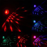 Wholesale 2016 NEW Mini RGB LED Crystal Magic Ball Stage Effect Lighting Lamp Party Disco Club DJ Bar Light Show USB Car LED