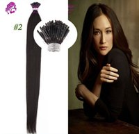 Wholesale Best Pre Bonded Stick Tip Hair I Tip Hair Extensions g strand g set Indian Human Hair Extentions I Tip Straight Hair