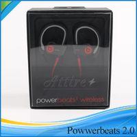 Wholesale Beats powerbeats wireless earphone headphone Bluetooth Headset Sport earphone with retail box beats by dre Used