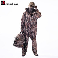 Wholesale REALTREE AP mm Waterproof Softshell Hunting Camouflage Clothing Mute Jacket Set Army suit Set Military Jacket Pants