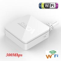 achat en gros de les commutateurs de réseau sans fil-Mini routeur sans fil Wi-Fi Bridge 300Mbps 150m Networking Large Power Input (DC5-15V) Interrupteur sans fil WiFi Bridge