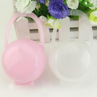 baby electronic cradle - shipping New Portable Baby Boy Girl Infant Pacifier Nipple Cradle Case Holder Box Unisex Consumer Electronics Shop