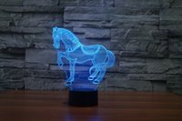 best furnishes - Multi Coloured Cute Horse LED Halloween Lights Best Gift Night Light LED Furnish Desk Table Lighting Home Decoration Toy Festival Holiday