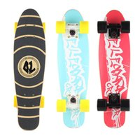 Wholesale Maple wood professional fish boardve fashional matte board skateboard wearable four wheel fish board fit boys and girls